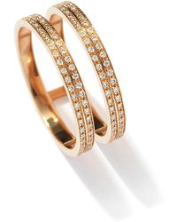 Repossi - Berbère Two-row Diamond Ring In 18k Rose Gold - Lyst