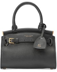 Ralph Lauren Mini Leather Rl50 Handbag - Black