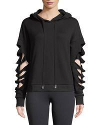 Alo Yoga - Slay Slashed Long-sleeve Hoodie Sweatshirt - Lyst
