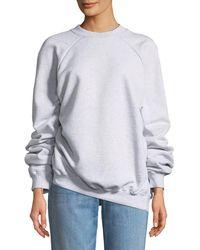 Vetements - Unskinny Crewneck Cotton Jersey Sweatshirt - Lyst