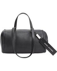Marc Jacobs Bauletto Leather Top Handle Bag - Black