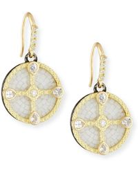 Armenta - Old World Mosaic Shield Earrings With Diamonds & Sapphires - Lyst