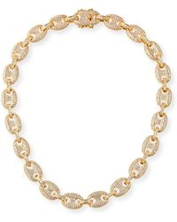 Fallon - Toscano Pave-link Necklace - Lyst