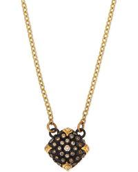 Armenta - Old World Midnight Pavé Diamond Cushion Necklace - Lyst