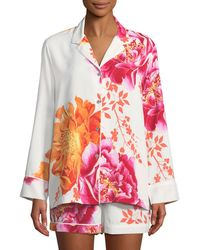 Natori - Bali Floral-print Shorty Pyjama Set - Lyst