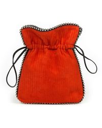 Les Petits Joueurs - Trilly Beaded Suede Drawstring Pouch Bag - Lyst