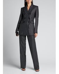 Michael Kors Crystal Pinstriped Double-breasted Dinner Jacket - Black