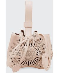Alaïa Rose Marie Mini Bucket Bag - Natural