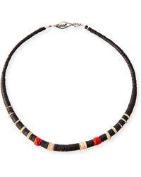 Saint Laurent Men's Beaded Necklace - Multicolour