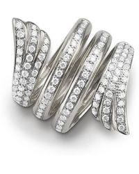 Monica Rich Kosann - White Gold Mercury Ring W/ Pavé Diamonds - Lyst