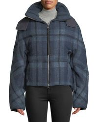JW Anderson - Check Flannel Cropped Puffer Jacket - Lyst