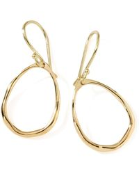 Ippolita - 18k Gold Mini Squiggle Open Teardrop Earrings - Lyst