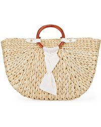 PAMELA MUNSON - Bimini Corn Husk Crescent Tote Bag - Lyst