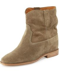 Isabel Marant - Crisi Flat Western Ankle Boots - Lyst
