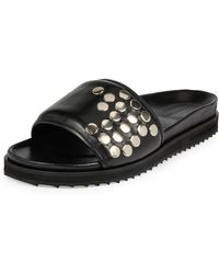 Alexander McQueen - Studded Leather Slide-on Sandal - Lyst