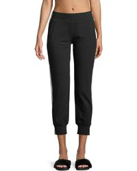 Norma Kamali - Side-stripe Cropped Jogger Pants - Lyst