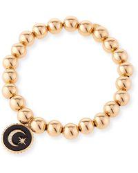Sydney Evan - 14k Gold Bead & Celestial Diamond Bracelet - Lyst