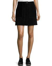 Rag & Bone | Denny Suede Mini Skirt | Lyst
