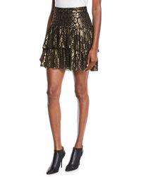 A.L.C. Baxter Tiered Metruffle Skirt - Black