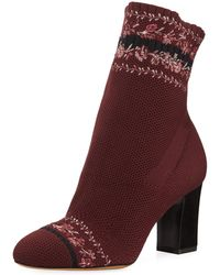 Tabitha Simmons - Anna Floral-embroidered Sock Boot - Lyst