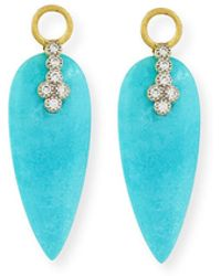 Jude Frances Provence Turquoise & Diamond Earring Charms - Blue
