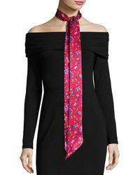 Liberty - Astrid Skinny Floral Silk Twill Scarf - Lyst