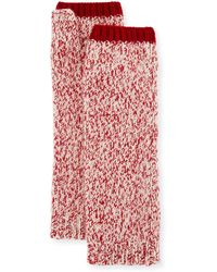 Sofia Cashmere - Marled Cashmere Fingerless Gloves/arm Warmers - Lyst