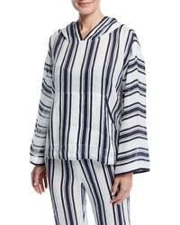 Tory Burch - Awning-stripe Hoodie - Lyst