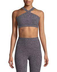 Beyond Yoga - High-cut Crisscross Sports Bra - Lyst