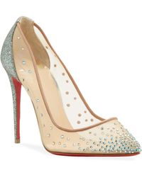 35aaee05d68 Christian Louboutin Salonu Chantilly Lace T-strap Red Sole Pump in ...