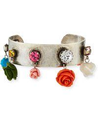 DANNIJO - Figgy Floral Cuff Bracelet - Lyst