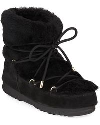 995c2de72b8 UGG Women's Lida Suede & Curly Sheepskin Booties in Natural - Lyst