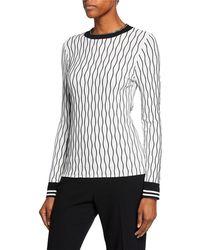 b9ad0c3ad1e045 Lyst - 3.1 Phillip Lim Sleeveless Thread-wave Pullover Sweater in Black