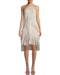 Joie - Lamberta Printed Silk Halter Dress - Lyst