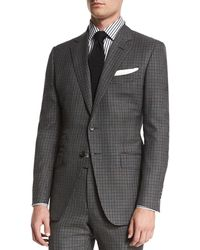 Tom Ford - O'connor Base Bicolor Gingham Two-piece Suit - Lyst