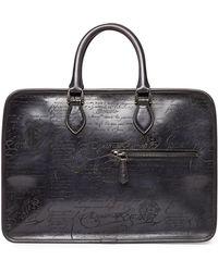 Berluti - Scritto Leather Briefcase - Lyst