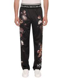 Dolce & Gabbana - Men's Floral Cherub Satin Jogger Trousers - Lyst