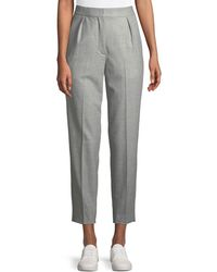 Theory - High-rise New Pure Flannel City Pants - Lyst