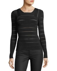 d96912ce69 Lyst - Narciso Rodriguez Crewneck Cropped Cardigan in Black
