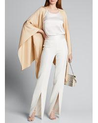 Sally Lapointe Silky Twill Wrap Cape - Natural