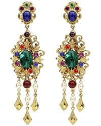 Ben-Amun - Multicolor Clip-on Drop Earrings - Lyst