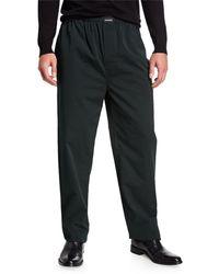 Balenciaga Men's Bengal Striped Poplin Pajama Pants - Black