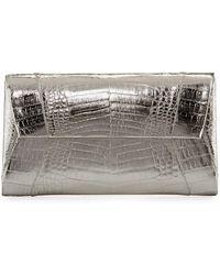 Nancy Gonzalez - Crocodile Envelope Clutch Bag - Lyst
