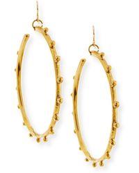 Ashley Pittman - Teli Studded Bronze Hoop Earrings - Lyst