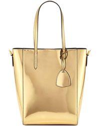 76c559e2f4 Ralph Lauren - Metallic Patent Mini Modern Tote Bag - Lyst