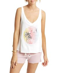 Sol Angeles Indian Summer Graphic Tank - White
