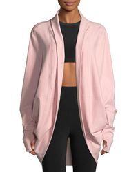 Norma Kamali - Open-front Terry Cocoon Cardigan - Lyst