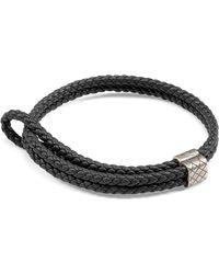 Bottega Veneta - Men's Woven Leather Bracelet - Lyst
