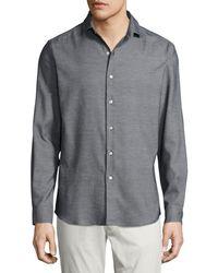 Ralph Lauren | Textured Silk-cotton Sport Shirt | Lyst
