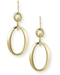 Ippolita 18k Glamazon Short Oval Link Earrings - Metallic